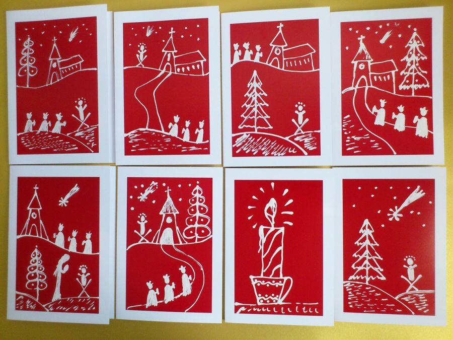 Červený vianočný pozdrav