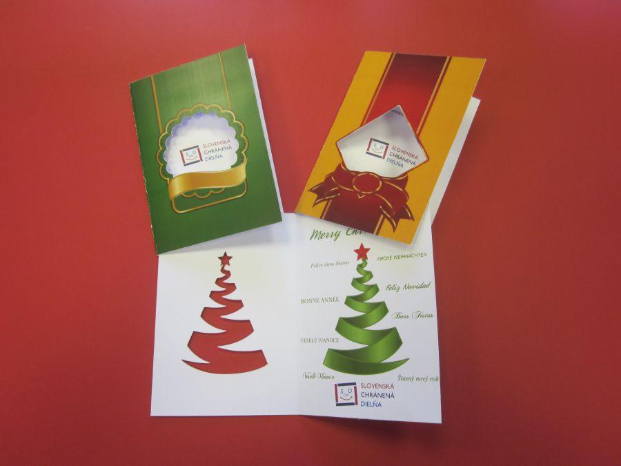 Vyrezávaný vianočný pozdrav s grafikou