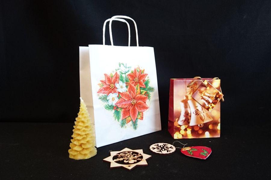 Vianočná papierová taška